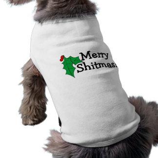 Merry Shitmas Doggie Shirt