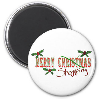 Merry Shopping 6 Cm Round Magnet