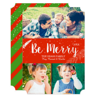 Merry Snaps Holiday Family Photo Card