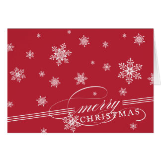 Merry Snowflakes Holiday Greeting Card