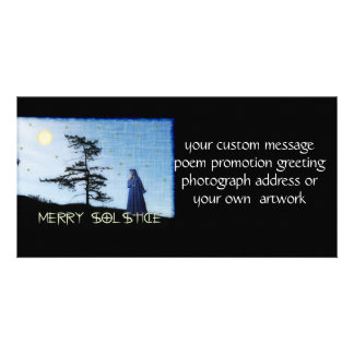 Merry Solstice Night Picture Card