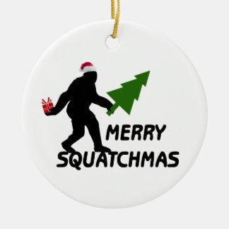 Merry Squatchmas Ceramic Ornament