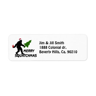 Merry Squatchmas Return Address Label