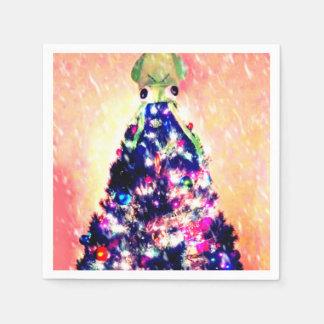 Merry Squid-mas Squid Christmas Tree Paper Napkin