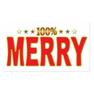 Merry Star Tag Business Cards