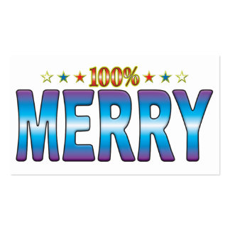 Merry Star Tag v2 Business Card