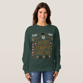 Merry Steampunk Christmas Ugly Sweater Sweatshirt