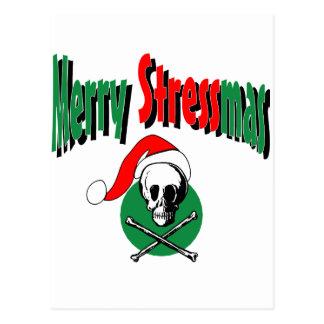 Merry Stressmas Postcard