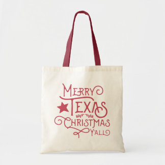 Merry Texas Christmas Y'all Canvas Tote Bag