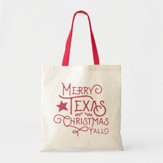 Merry Texas Christmas Y'all Canvas Tote Bag