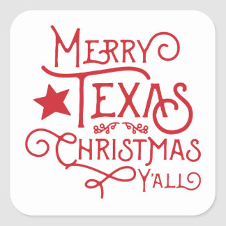 Merry Texas Christmas Y'all Stickers