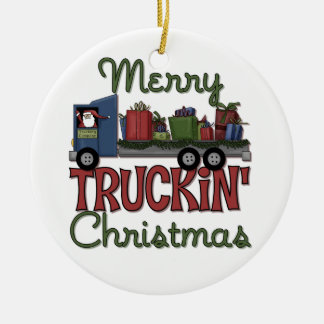Merry Truckin Christmas Ornament