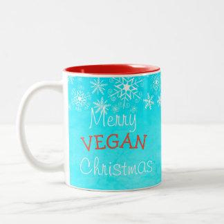Merry Vegan Christmas, Blue Mug For Vegan