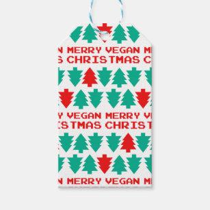 merry vegan christmas xmas gift tag - Vegan Christmas Gifts