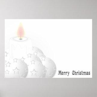 Merry White Christmas Poster