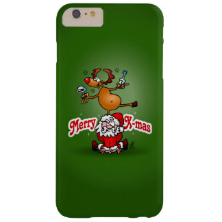 Merry X-mas from Santa Claus and his reindeer Barely There iPhone 6 Plus Case