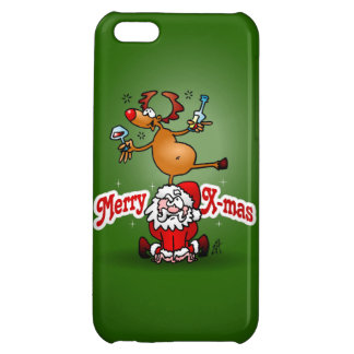 Merry X-mas from Santa Claus and his reindeer Cover For iPhone 5C