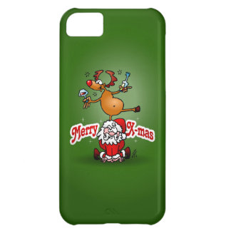 Merry X-mas from Santa Claus and his reindeer iPhone 5C Case