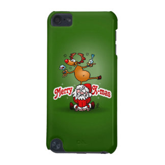Merry X-mas from Santa Claus and his reindeer iPod Touch (5th Generation) Covers