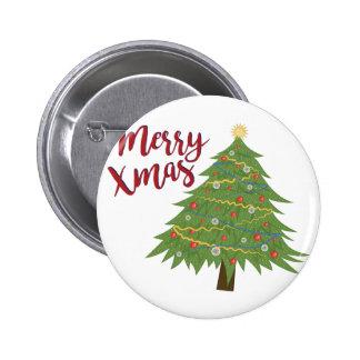 Merry Xmas 6 Cm Round Badge