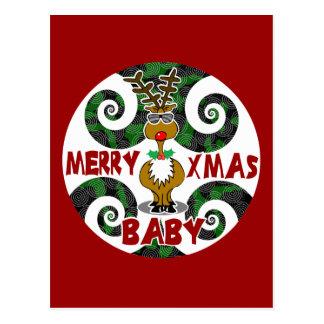 Merry Xmas Baby Postcard