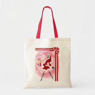 Merry Xmas Budget Tote Bag