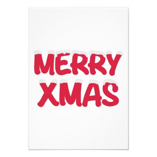 Merry Xmas christmas snow Announcement