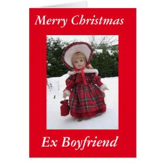 """""""Merry Xmas Ex Boyfriend Card"""