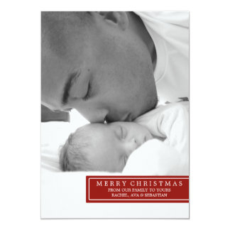 MERRY XMAS FROM OUR FAMILY 13 CM X 18 CM INVITATION CARD