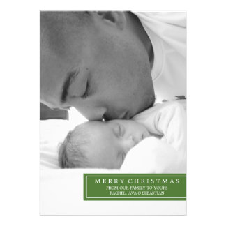 MERRY XMAS FROM OUR FAMILY PERSONALIZED INVITE