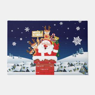 Merry Xmas From Santa's Crew Doormat
