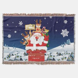 Merry Xmas From Santa's Crew Throw Blanket