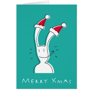 Merry Xmas Greeting Card by BixTheRabbit