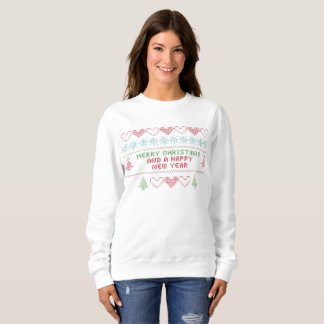 merry xmas happy new year womens sweatshirt