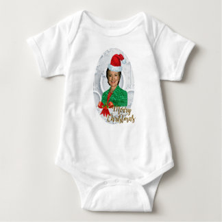 merry xmas Hillary clinton Baby Bodysuit