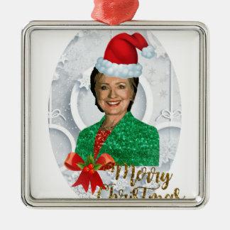 merry xmas Hillary clinton Metal Ornament