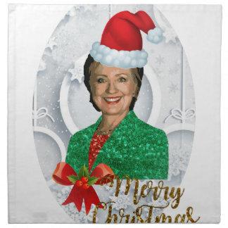 merry xmas Hillary clinton Napkin