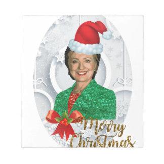 merry xmas Hillary clinton Notepad
