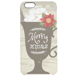 Merry Xmas Holiday Ice Cream Clear iPhone 6 Plus Case