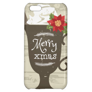 Merry Xmas Holiday Ice Cream Cover For iPhone 5C