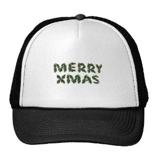 Merry Xmas Holly Mesh Hats