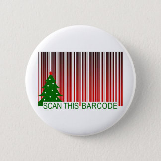 MERRY XMAS : scan this barcode 6 Cm Round Badge