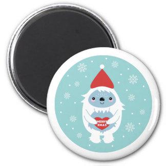 Merry Xmas Yeti Magnet