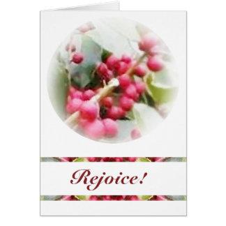 Merry Yule Berry Solstice Card