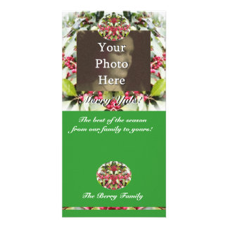 Merry Yule Berry Winter Solstice Christmas Photo Photo Card Template