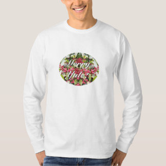 Merry Yule Berry Winter Solstice Christmas White T-Shirt