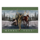 Merry Yule Winter Stag Greeting Card