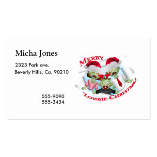 Merry Zombie Family Christmas Double-Sided Standard Business Cards (Pack Of 100)