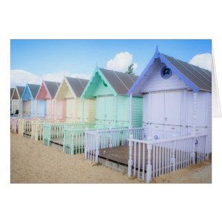 Mersea Island Beach Huts Card