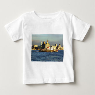Mersey Ferry with the Liverpool Watefront beyond Baby T-Shirt